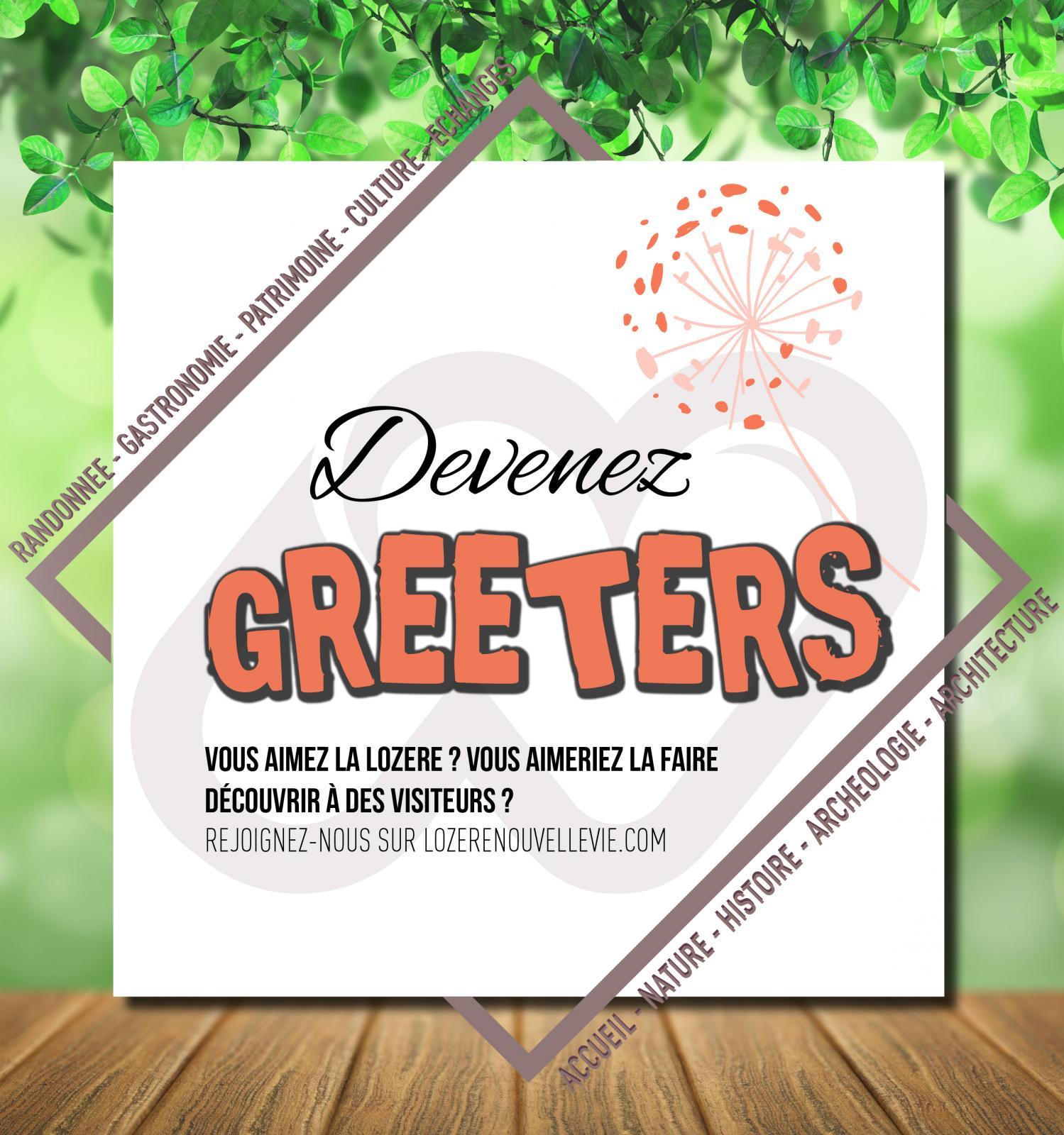 Visuel invitant à devenir Greeters